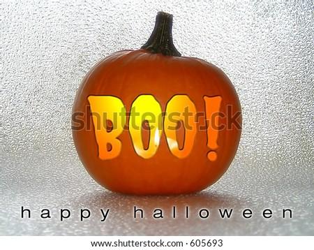 Boo Pumpkin! - stock photo