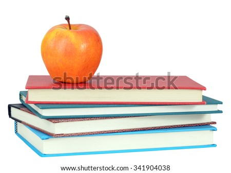 book and apple for back to school concept