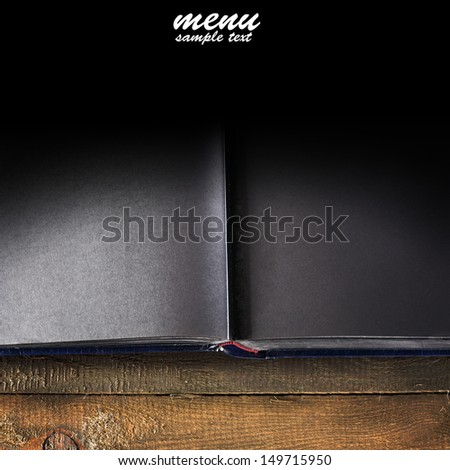 book and black space