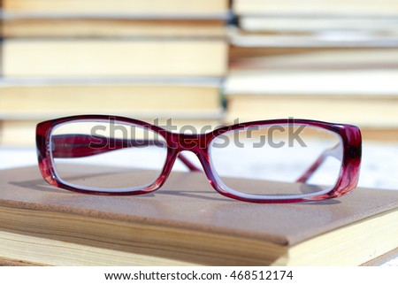 Book and glasses. Education is the path to knowledge and education. The wisdom and concepts of the study.