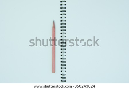 book and pencil background