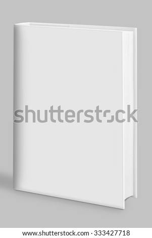 Book, blank book with white cover - stock photo