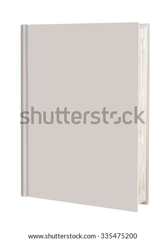Book, blank book with yellow cover and rough pages - stock photo