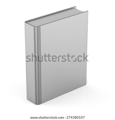 Book blank clean empty template single brochure hard cover textbook cookbook workbook notebook knowledge content information. 3d render isolated on white background
