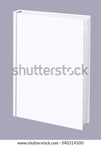 Book, blank, white hard cover - stock photo
