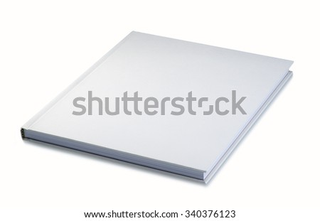 Book, blank, white hard cover
