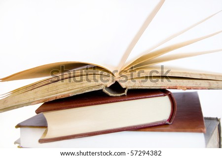 Book conceptual image. Books on isolated background.