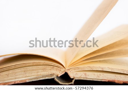 Book conceptual image. Open book on isolated background.