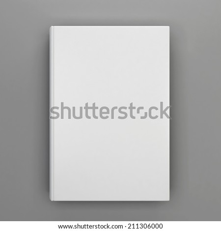 Book cover. 3d illustration isolated on white background  - stock photo