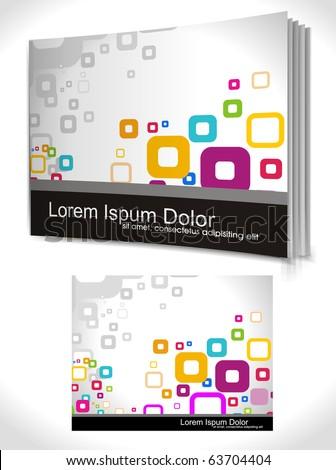 book cover design template. Vector Illustration - stock photo