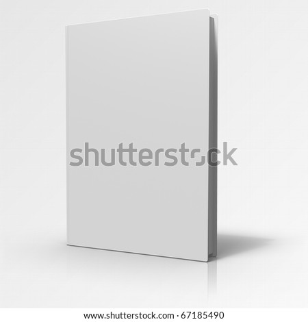 Book cover on grey gradient background
