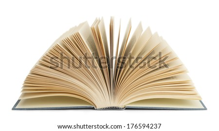 Book Fanned Isolated on White Background.