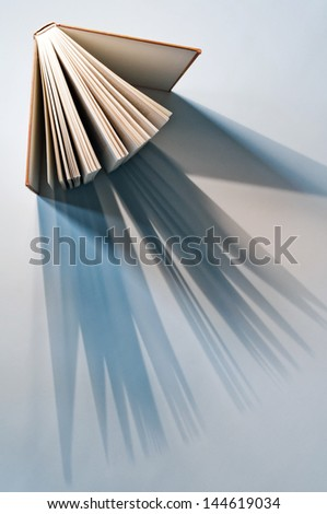 book from above - stock photo