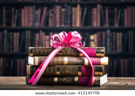 Book gifts - stock photo
