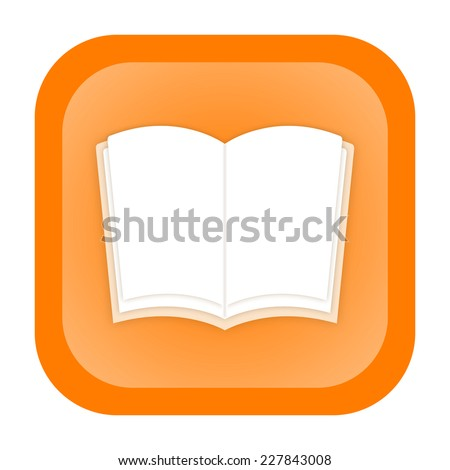 Book icon - stock photo