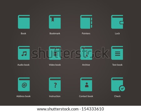 Book icons. See also vector version. - stock photo