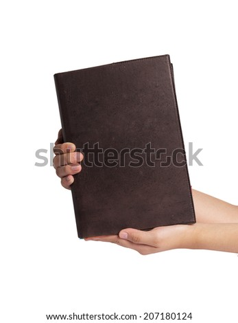 book in hands  - stock photo