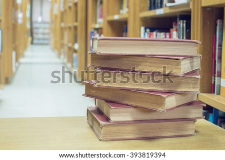 Book in library room, education concept - stock photo