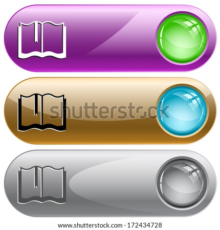 Book. Internet buttons. Raster illustration. Vector version is in my portfolio. - stock photo