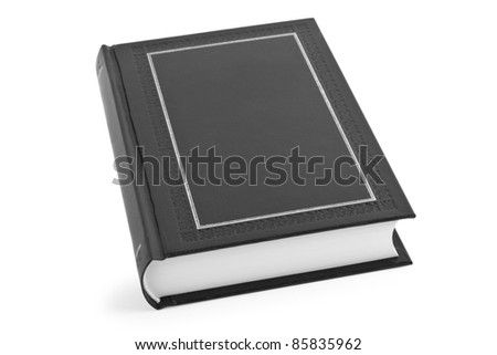 book isolated on the white