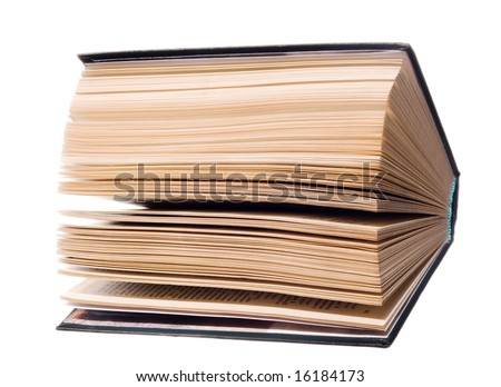 Book isolated on white. - stock photo