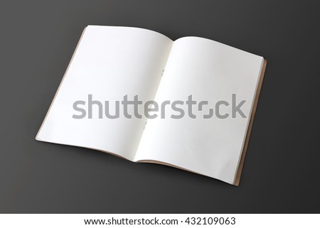 book mock up on gray background