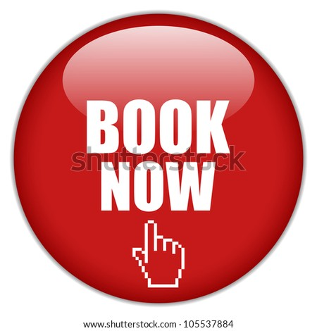 Book now red icon - stock photo
