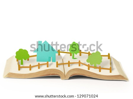 book of fantasy stories ,Reading a glowing fantasy book - stock photo