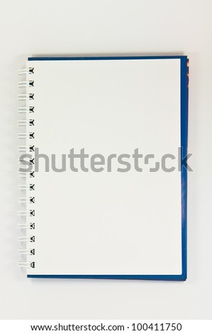 book  on the in white background