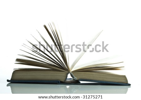 book on the white background