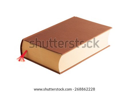 book on white background - stock photo