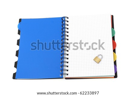 Book on white background - stock photo