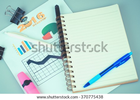 book on work table with white background