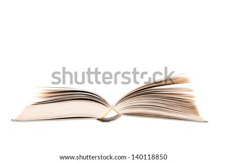Book open and isolated on white background