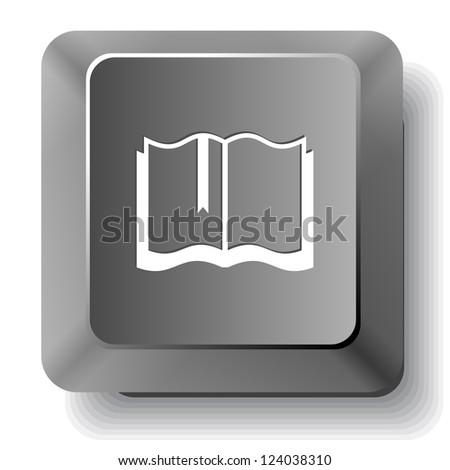 Book. Raster computer key. - stock photo