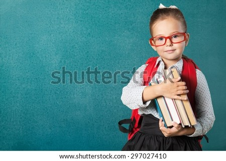 Book, school, kid. - stock photo