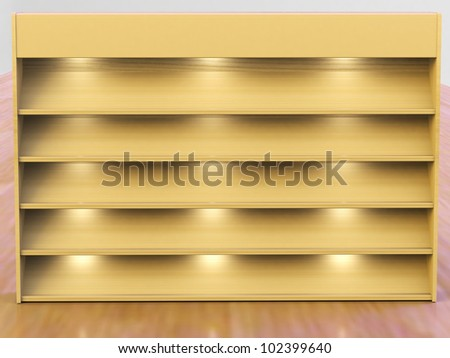 Book Shelf for background - stock photo