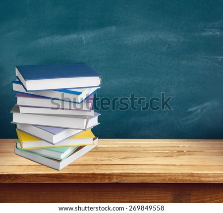 Book, Stack, Bookstore. - stock photo