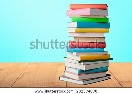 Book, Stack, Heap. - stock photo