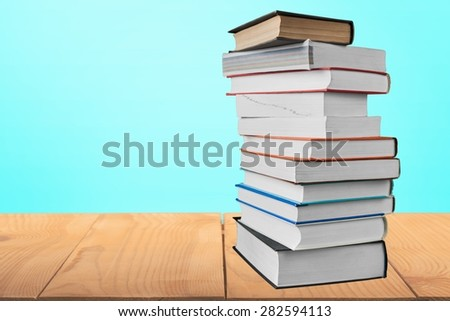 Book, Stack, Open.