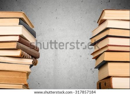 Book Stacks. - stock photo