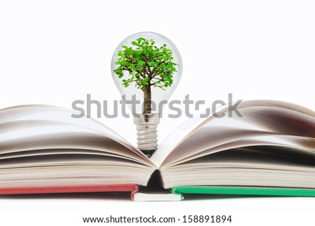 Book tree bulb  - stock photo