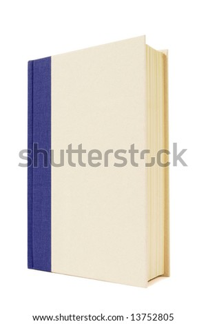 Book upright : cream and blue, vertical - stock photo