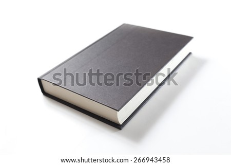 book with blank black cover - stock photo
