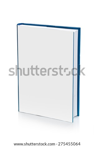 Book with Blank Covers for Mock Up Design on White Background - stock photo
