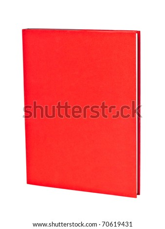 book with read cover isolated on the white background