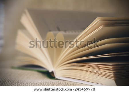 Book with soft light   - stock photo