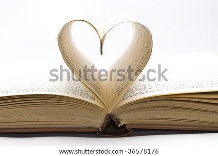 Book with the heart