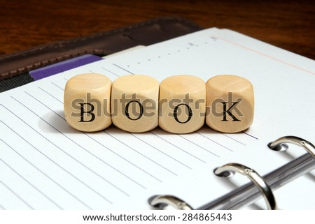 Book word concept on notebook
