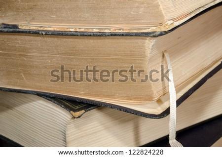 book yellowing - stock photo